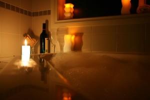 Sarsberella Candle photo - Next to Bathtub