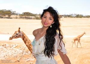 Model with Giraffe