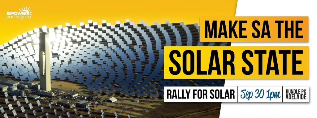 Rally for Solar - 30th Sept 2012, Adelaide, South Australia