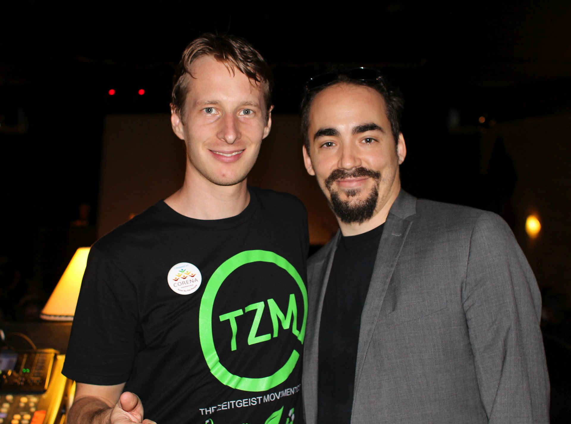 Michael Kubler and Peter Joseph at the ZDay 2017 global event in Brisbane.