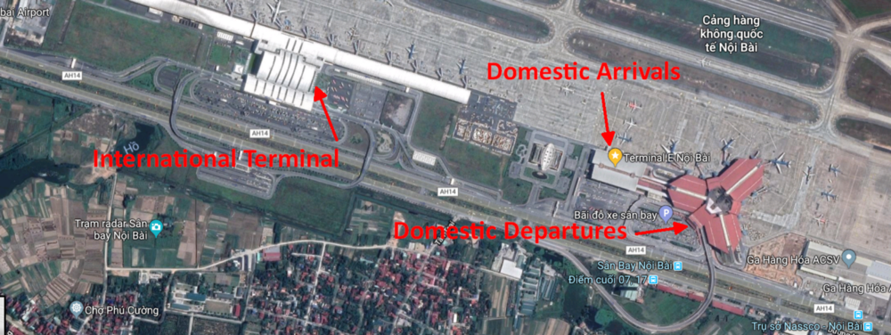 Hanoi Airport Layout
