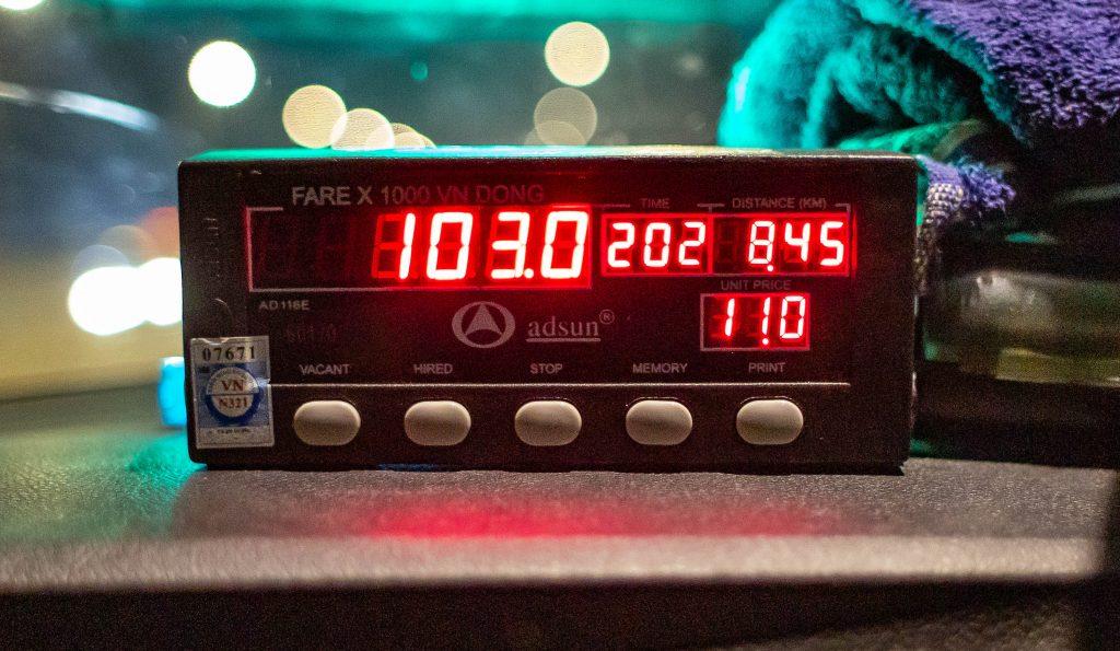A proper taxi meter.